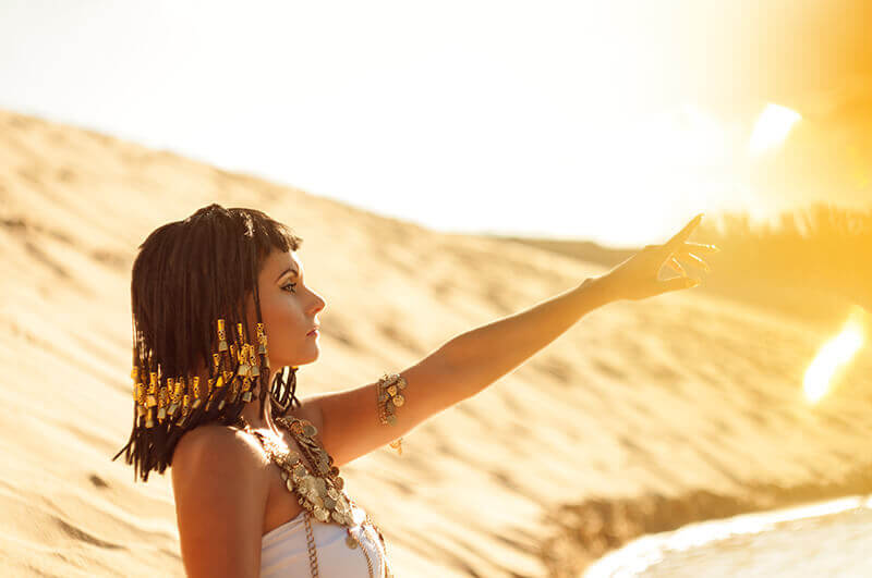 Cleopatra was rumored to have slept in a gold mask to preserve her beauty