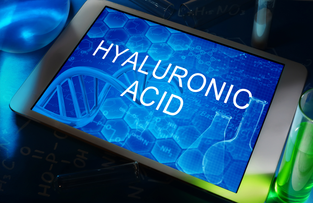 Hyaluronic acid written on a tab.