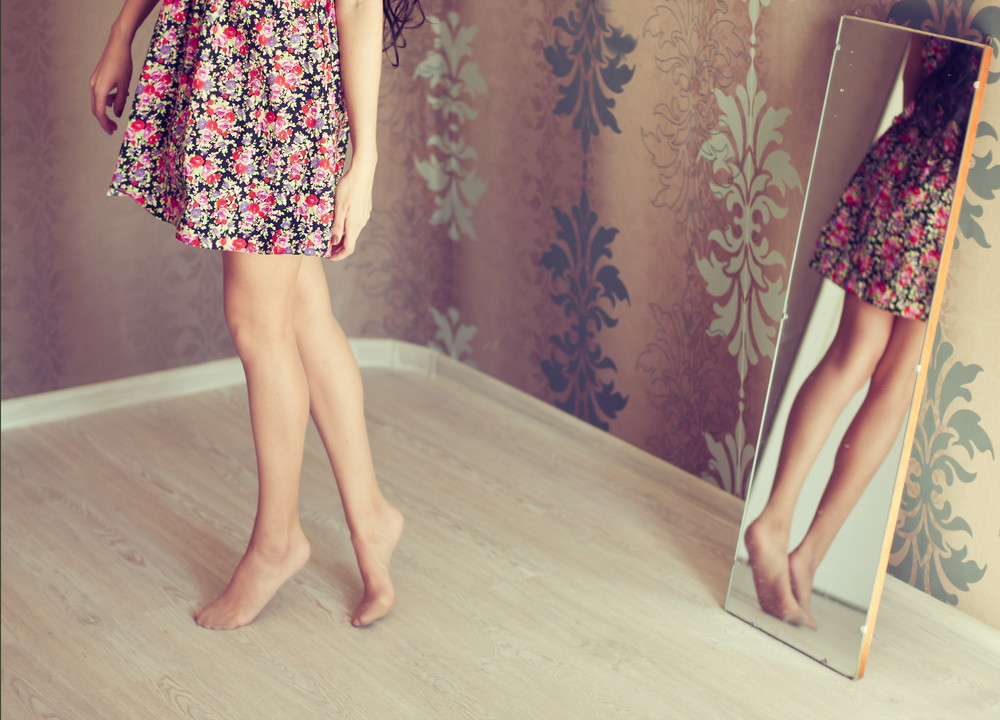 Woman with beautiful feet