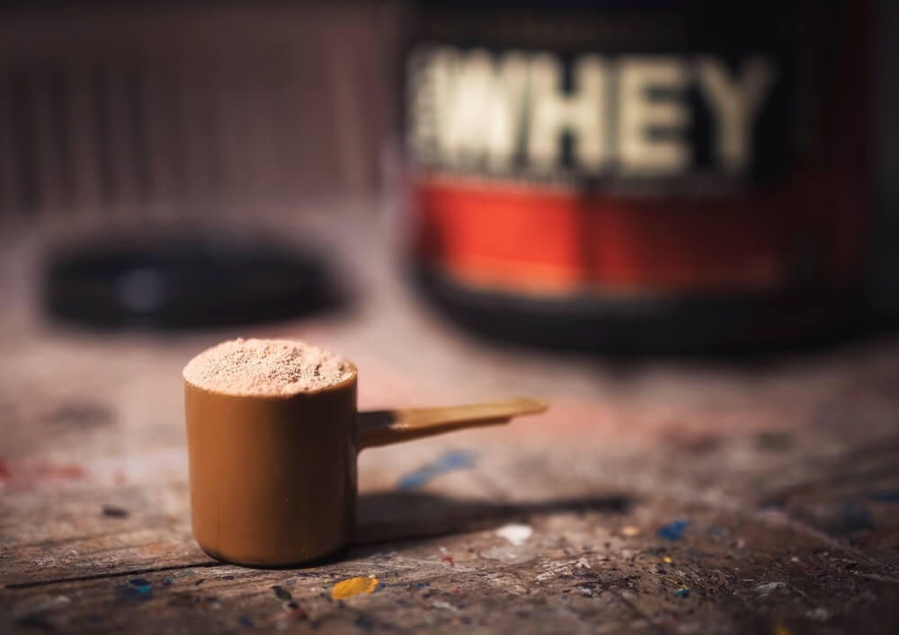 A spoonful of whey protein